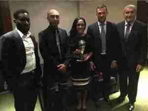 Jay Jay Okocha Joins Legends To Announce FIFA Best Awards Nominees (Photos)